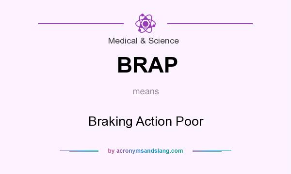 What does BRAP mean? It stands for Braking Action Poor