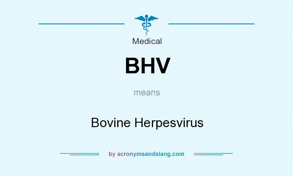 What does BHV mean? It stands for Bovine Herpesvirus
