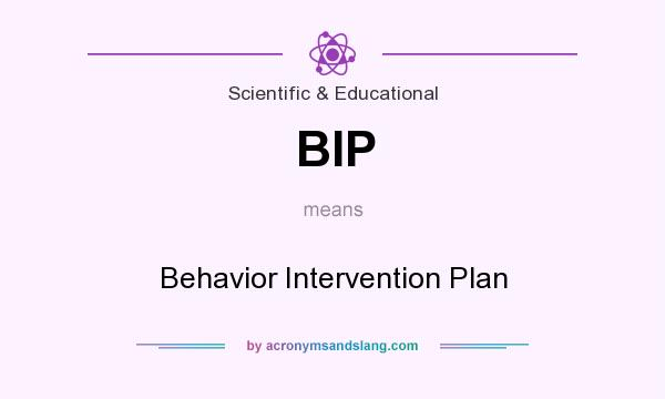 What does BIP mean? It stands for Behavior Intervention Plan