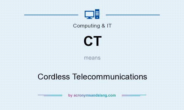 What does CT mean? It stands for Cordless Telecommunications