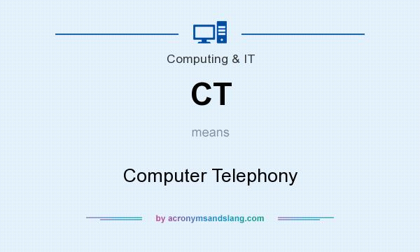 What does CT mean? It stands for Computer Telephony