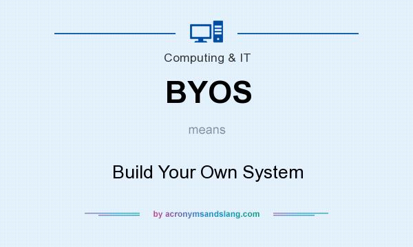 What does BYOS mean? It stands for Build Your Own System
