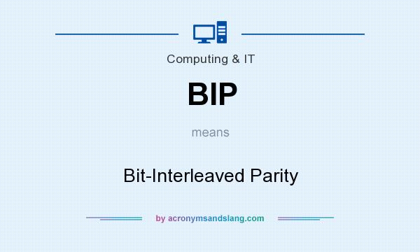 What does BIP mean? It stands for Bit-Interleaved Parity