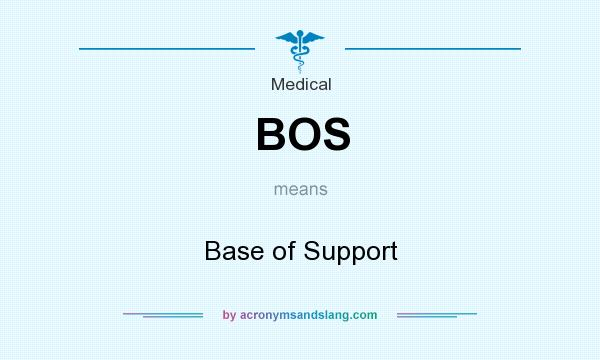 What does BOS mean? It stands for Base of Support