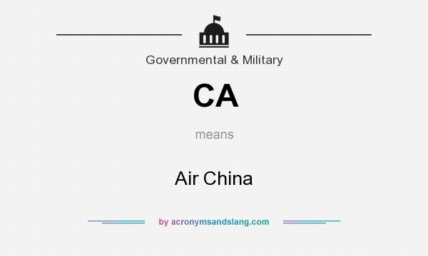 What does CA mean? It stands for Air China