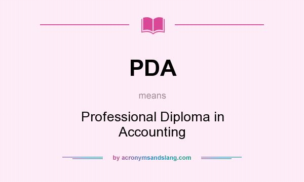 PDA - Professional Diploma in Accounting in Undefined by