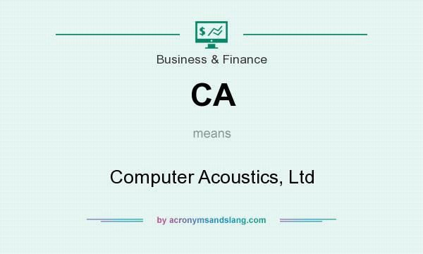 What does CA mean? It stands for Computer Acoustics, Ltd