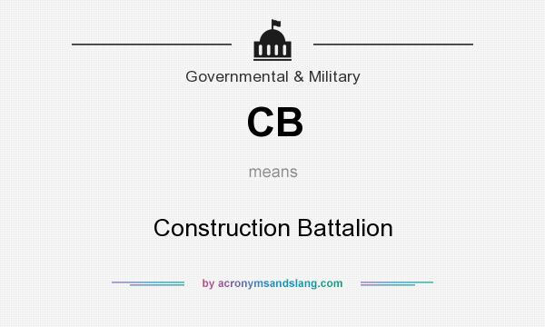 What does CB mean? It stands for Construction Battalion