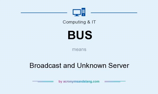 What does BUS mean? It stands for Broadcast and Unknown Server