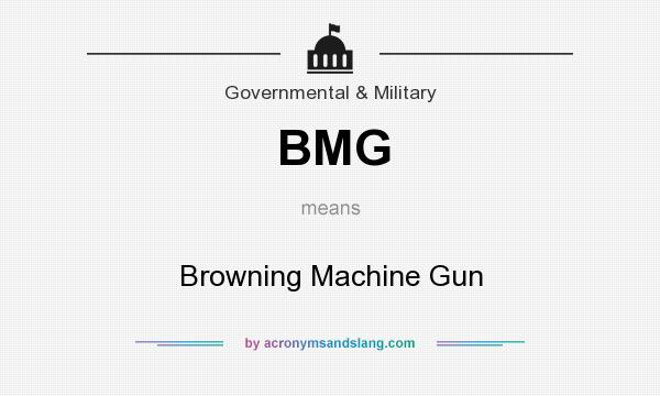 What does BMG mean? It stands for Browning Machine Gun
