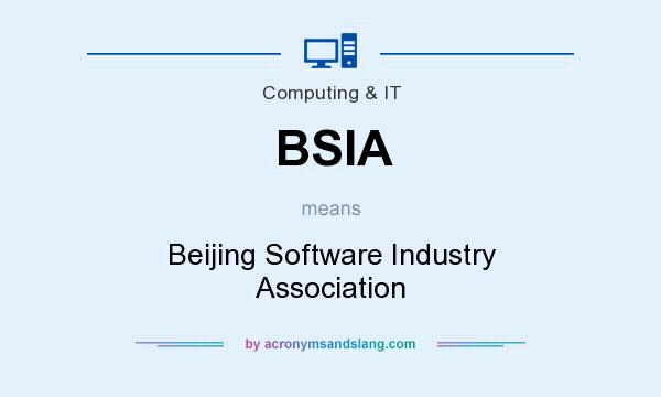 What does BSIA mean? It stands for Beijing Software Industry Association