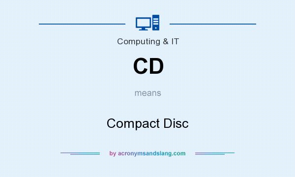 What does CD mean? It stands for Compact Disc