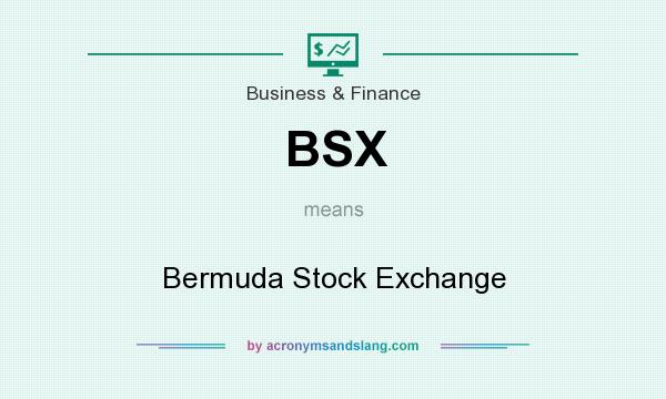 What does BSX mean? It stands for Bermuda Stock Exchange