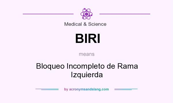 What does BIRI mean? It stands for Bloqueo Incompleto de Rama Izquierda