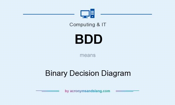 What does BDD mean? It stands for Binary Decision Diagram