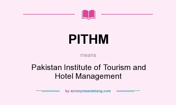 What does PITHM mean? - Definition of PITHM - PITHM stands