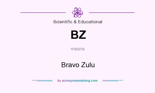 What does BZ mean? It stands for Bravo Zulu