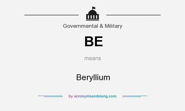What does BE mean? It stands for Beryllium