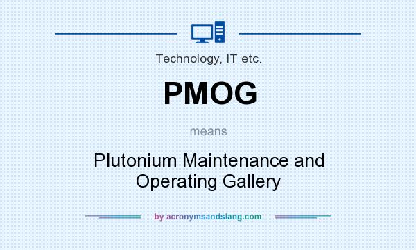 What does PMOG mean? It stands for Plutonium Maintenance and Operating Gallery