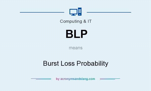 What does BLP mean? It stands for Burst Loss Probability