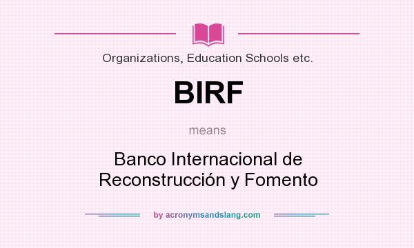 Birf banco internacional de reconstrucci n y fomento in for Banco internacional