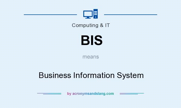 What does BIS mean? It stands for Business Information System