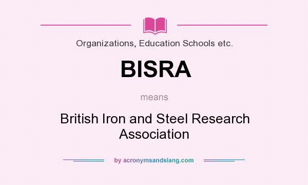 What does BISRA mean? It stands for British Iron and Steel Research Association