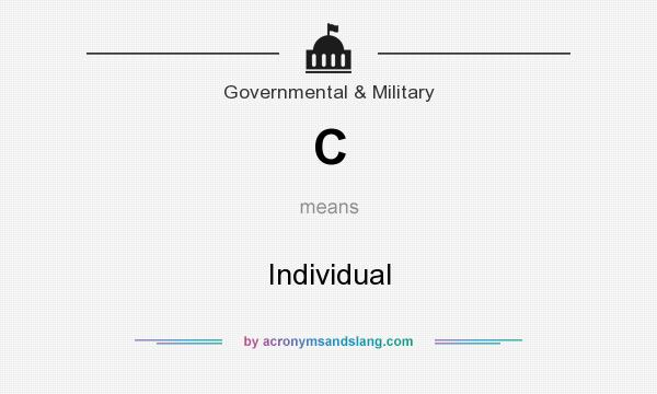 What does C mean? It stands for Individual
