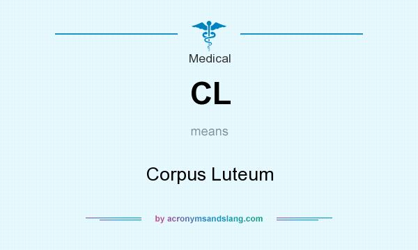 What does CL mean? It stands for Corpus Luteum