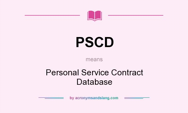 Pscd - Personal Service Contract Database In Undefined By