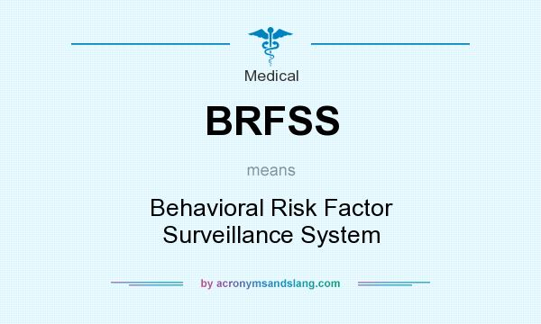 What does BRFSS mean? It stands for Behavioral Risk Factor Surveillance System