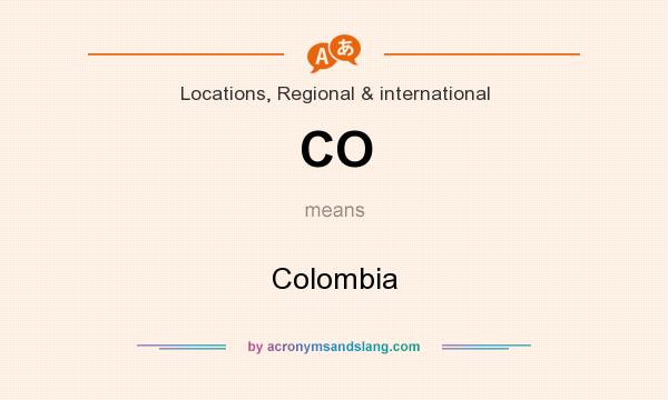 What does CO mean? It stands for Colombia