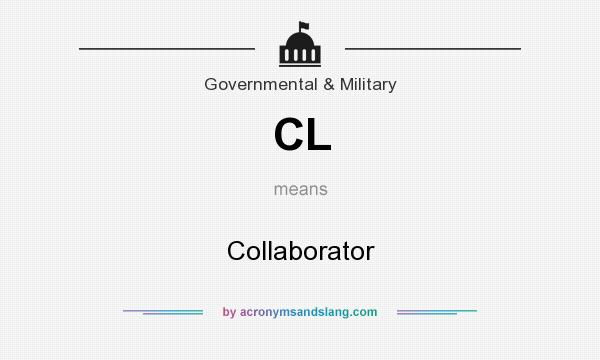 What does CL mean? It stands for Collaborator