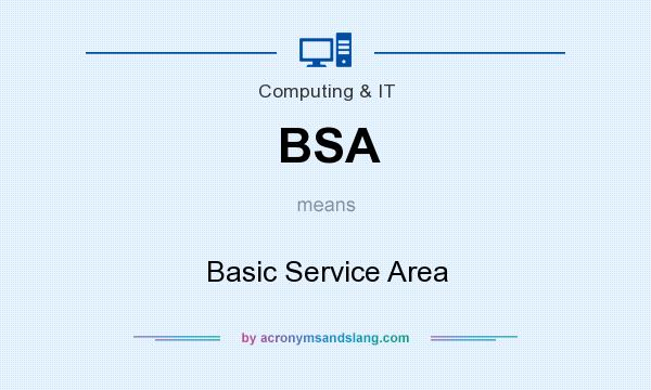 What does BSA mean? It stands for Basic Service Area