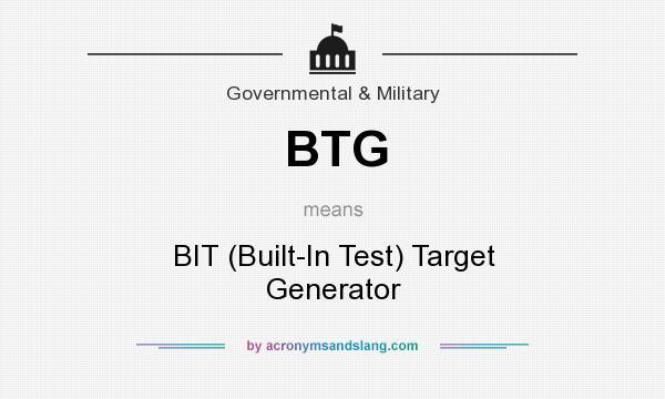 BTG - BIT (Built-In Test) Target Generator in Government