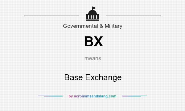 What does BX mean? It stands for Base Exchange