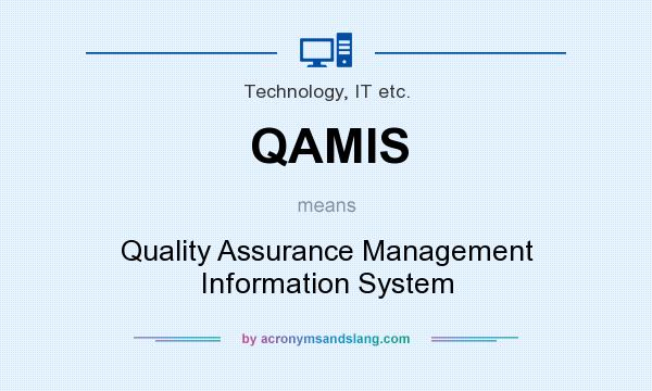 What does QAMIS mean? It stands for Quality Assurance Management Information System