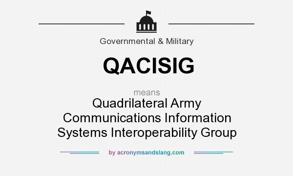 What does QACISIG mean? It stands for Quadrilateral Army Communications Information Systems Interoperability Group