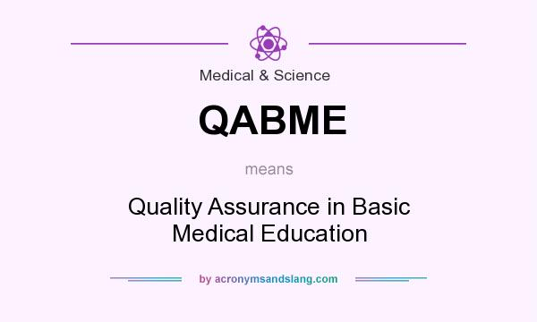 What does QABME mean? It stands for Quality Assurance in Basic Medical Education
