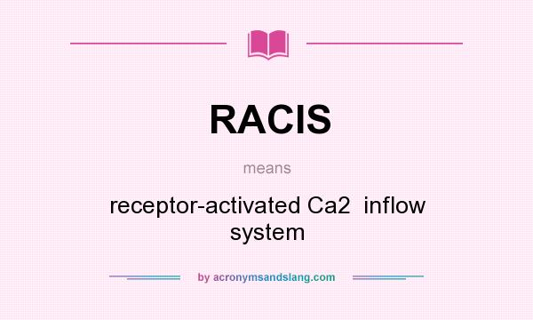 What does RACIS mean? It stands for receptor-activated Ca2  inflow system
