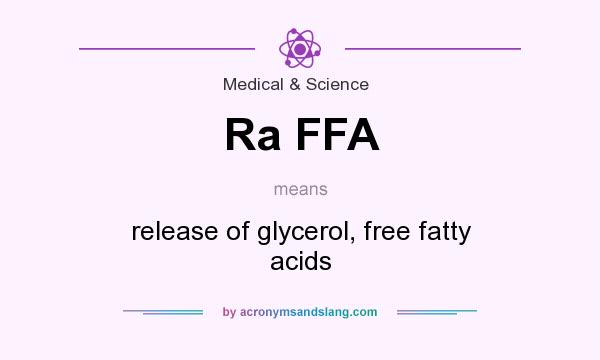 What does Ra FFA mean? It stands for release of glycerol, free fatty acids