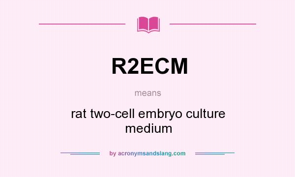 What does R2ECM mean? It stands for rat two-cell embryo culture medium