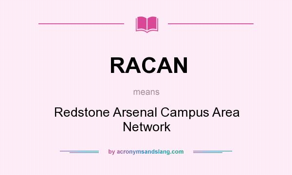 What does RACAN mean? It stands for Redstone Arsenal Campus Area Network