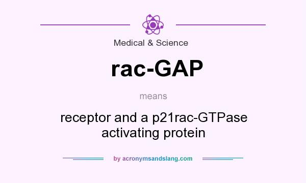 What does rac-GAP mean? It stands for receptor and a p21rac-GTPase activating protein