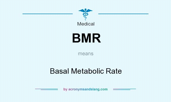 What does BMR mean? It stands for Basal Metabolic Rate