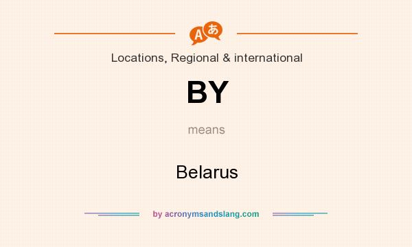 What does BY mean? It stands for Belarus