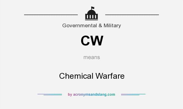 What does CW mean? It stands for Chemical Warfare