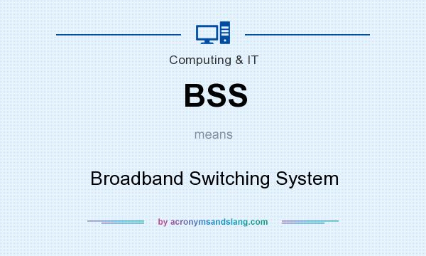 What does BSS mean? It stands for Broadband Switching System