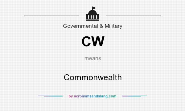 What does CW mean? It stands for Commonwealth