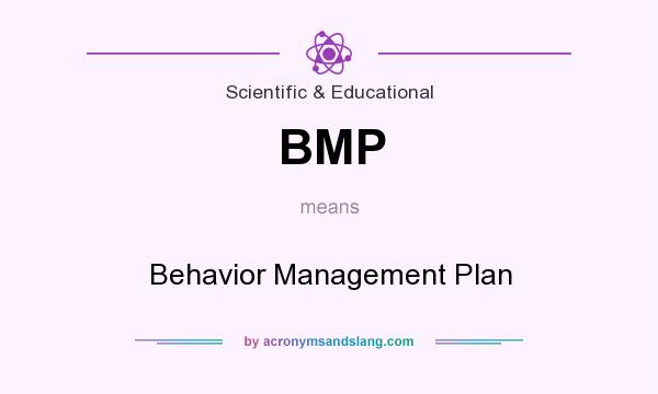 What does BMP mean? It stands for Behavior Management Plan